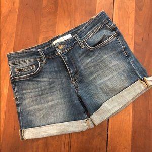 "Joe's jeans 6"" slouchy rolled denim shorts"